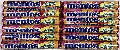 901309 12 x 37.5g PACKETS OF MENTOS, CHEWY DRAGEES, FRUIT FLAVOUR! NED