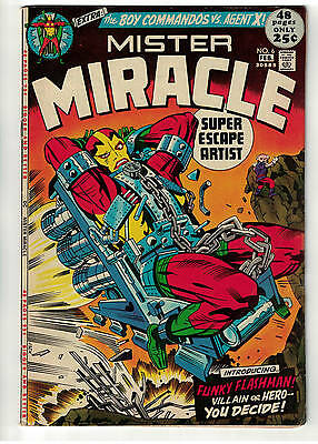 DC comics 6 Mr Miracle Mister justice league VFN-/FN+ 6.0 1971 X pit new movie