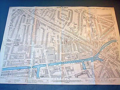 134] Detailed old OS mapping  London Camberwell Peckham Old Kent Road1894