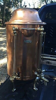Vintage Cecilware Copper Catering Coffee Tea Drink Dispenser Soda Lunch NY