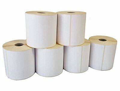 """100 x 150mm (6x4"""") WHITE Thermal Labels 500 on a Roll ZEBRA, CITIZEN, TOSHIBA"""