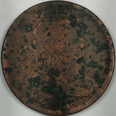 1807 Draped Bust Large Cent - Old Us Copper Coin