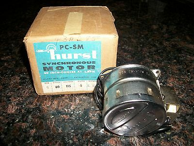 Hurst Synchronous Motor (6 RPM / 115 Volt / 5 Watt) NOS! In Original Box!!