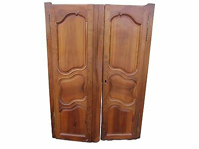 Antique French Armoire Door Pair French Architectural Door Panels French Farmhou