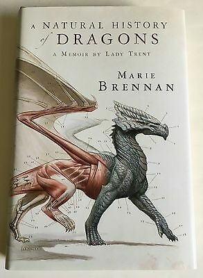 A NATURAL HISTORY of Dragons by Marie Brennan, Todd Lockwood 1st SIGNED x 2
