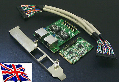 Mini PCI Express PCIe Gigabit Ethernet x2 Network Adapter NIC Card
