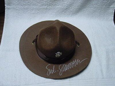 Sgt. Slaughter signed USMC Drill Instructor Cover w/COA     WWF WWE