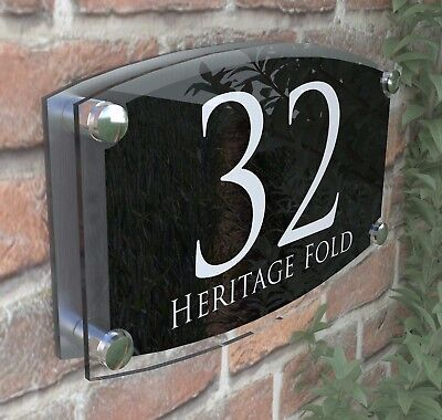 Large House Signs Plaques Door Number 1 - 999 Personlised Wall  Address