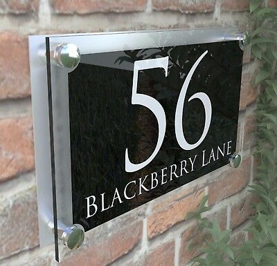 Large Contemporary House Sign Plaques Door Number 1 - 999 Address door numbers