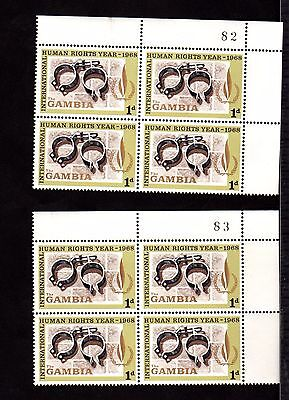 Stamps ~ GAMBIA Africa BLOCKS ~ HUMAN RIGHTS YEAR 1968 U/M