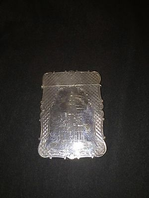 Nathaniel Mills Castle Top Antique Silver Card Case