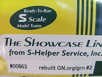 S-Helper Steel Rebuilt Box Car #00663 G.N.#2