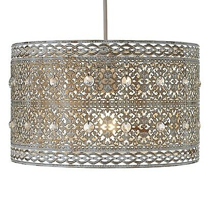 Vintage Large Jewel Pale Gold Moroccan Style Ceiling Light Shade Pendant