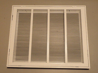 """Hart & Cooley 043418 20"""" x 16"""" 659 White Steel Return Air Filter Grille"""