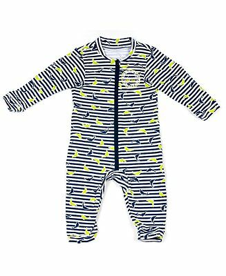 Jakabel Baby Dolphin UV Sun Protection Romper - Navy - 0 - 12m