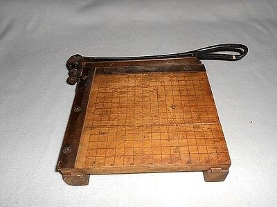 Vintage INGENTO No 2 Guillotine Industrial Rustic Paper Cutter Maple 8 1/2""