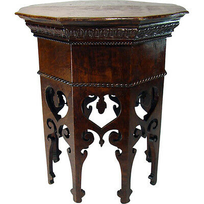 Fancy Carved Solid Oak Stand - 1890's