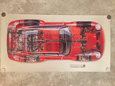1985 Porsche 959 Exposed View Showroom Advertising Sales Poster RARE!! Awesome