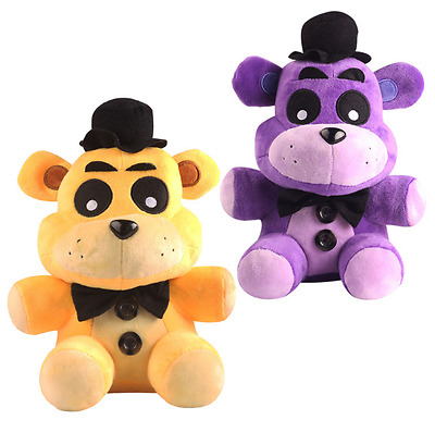 "New 7"" purple Golden Freddy Exclusive Five Nights at Freddys Plush 18CM Toy doll"