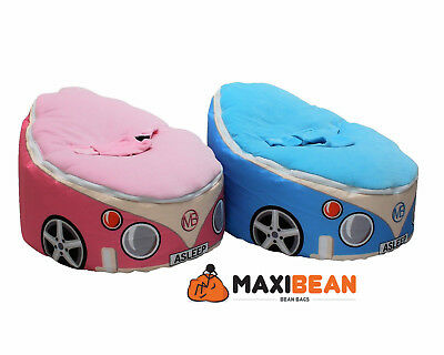 Baby Bean Bag Adjustable Harness Kids Toddler Chair CAR DESIGN Bouncer Beanbag