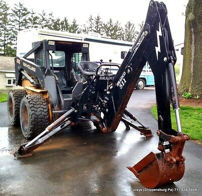 BRADCO 511 Backhoe Attachment for Skid Steer Loader With Mounting Bracket