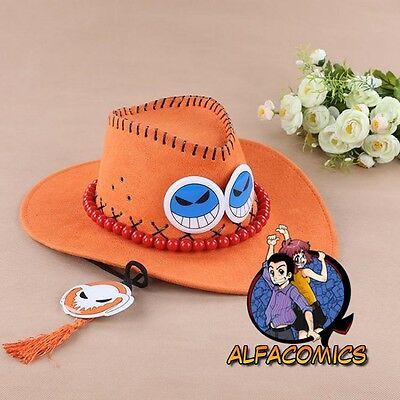 ONE PIECE Cappello PORTGAS D. ACE perfetto per COSPLAY! luffy zoro nami cap hat