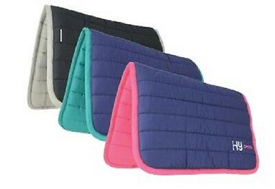 HySPEED Quilted Reversible Cotton Horse Poly Saddle Pad /Cloth/Numnah FREE P&P