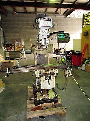 Vectrax model GS 16V variable speed knee mill 9 x 49 table
