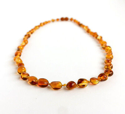 Pure Amber Necklace Adult Polished beaded beads 18/20 inch Natural Baltic amber
