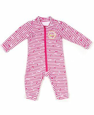 Jakabel Baby Dolphin UV Sun Protection Romper - Pink - 0 - 12m