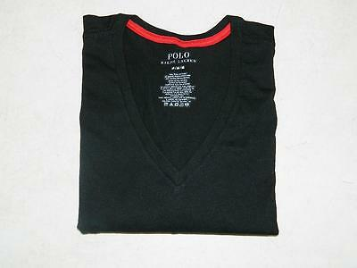 Polo Ralph Lauren Men's V Neck T Shirt Pima Cotton Black NWOT Size M