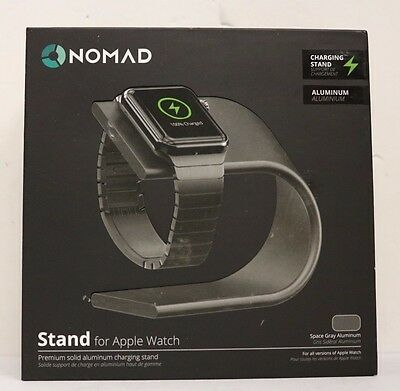 NEW Nomad Premium Aluminum Charging Stand For Apple Watch Space-Gray