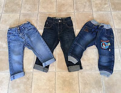 3 pairs of boys NEXT jeans age 9/12 months