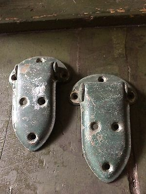 Vintage SET of 2 N.L.Co. Rockford cabinet ICE BOX HARDWARE HINGES RESTORATION