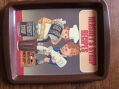 Vintage Hershey Tray 1982 Made In England Chocolate Metal Small