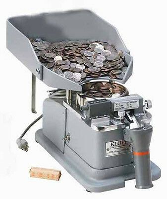 """New Klopp CEB Electric One Coin Counter & Bagger - One Coin/Token to 1.125"""""""