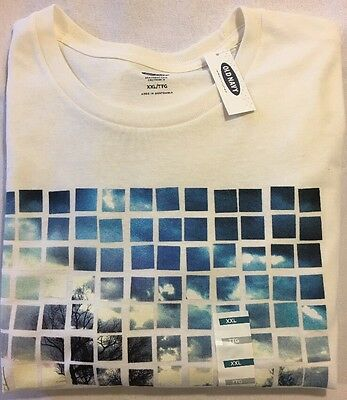 Old Navy Men's White California Short Sleeve T-Shirt Size XXL NWT