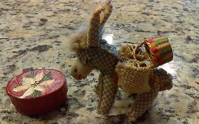 Hand Made Donkey & Paper Box From Mexico