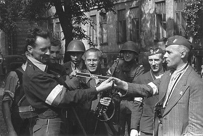 Warsaw Uprising 1944 WIKING band Polish Soldiers Home Army Poland photo 4x6