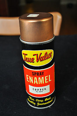 Vintage True Value Spray Paint Can Copper