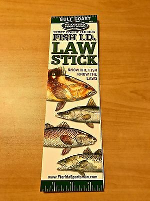 Florida Sportsman. Gulf Coast. Fish I.D. Rules, Regulations & Limits Law Stick.