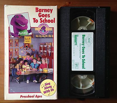 RARE BARNEY AND The Backyard Gang VHS Tape: Barney Goes To ...