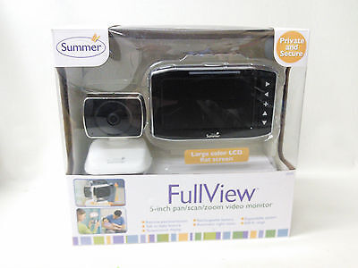 "Summer Infant Full View 5"" Pan Scan Zoom Baby Video Monitor 29270 [EBK7-FV29]"