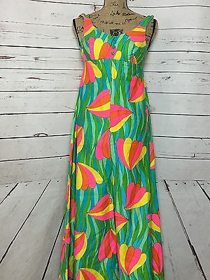 Vintage Jayhart 1960's Floral Palazzo Psychedelic Jumpsuit Size Small - B5