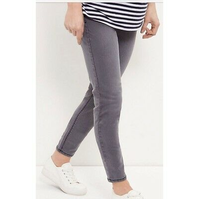 Maternity Grey Skinny Over Bump Jeggings/Jeans - Ex New Look Size 8-20