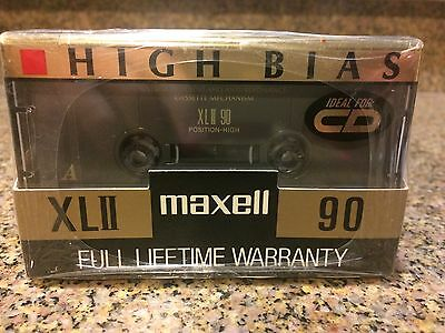 Maxell Audio Cassette Tape 90 Minutes High Bias XLII Lot of 8 New Sealed Plus 1