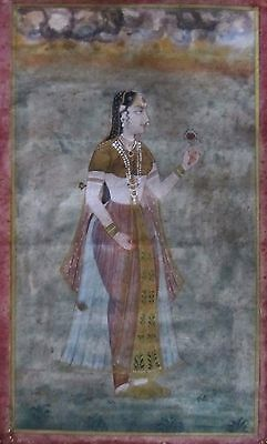 Antique Indian Mughal Painting Miniature___#1