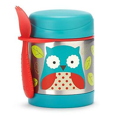 Skip Hop Baby Zoo Little Kid and Toddler Insulated Food Jar and Spork Set, Owl