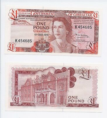 Gibraltar 1 Pound, 1979 Scarce Date For Issue  Nice Unc