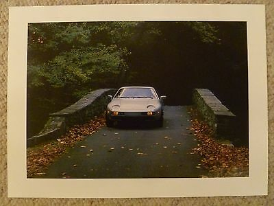 1985 Porsche 928 Showroom Advertising Picture, Print, Poster RARE!! Awesome